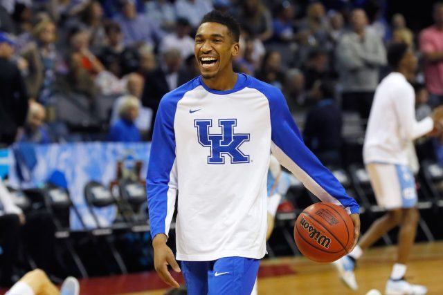 Malik Monk warms up before a game against UNC.