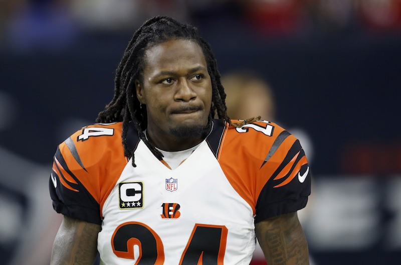 Adam Pacman Jones looks on during warmups before a game in 2016.