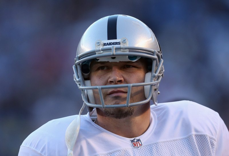 Sebastian Janikowski looks on during a game in 2016.