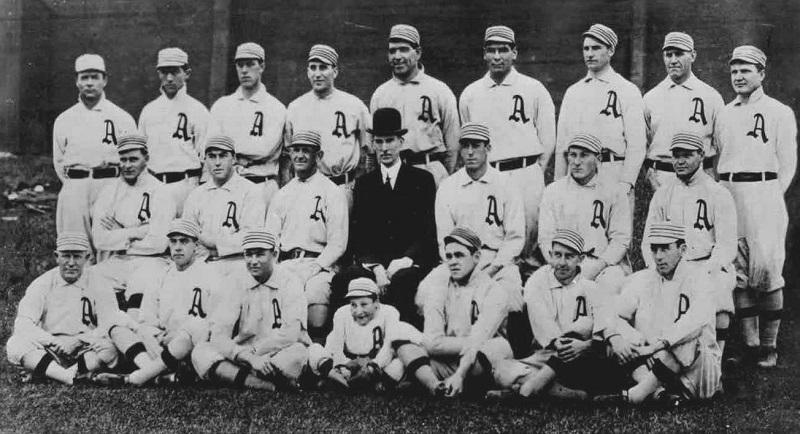 Team photo of World Series champion Philadelphia A's for 1911 season