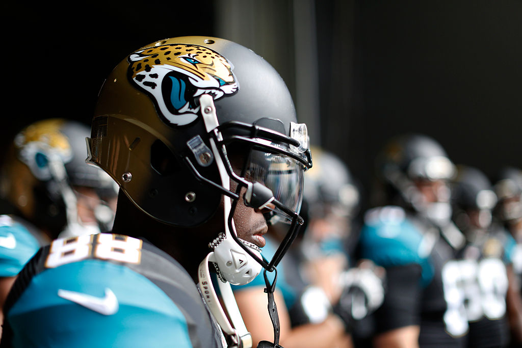 Allen Hurns of Jacksonville Jaguars waits to run onto the field before a game.