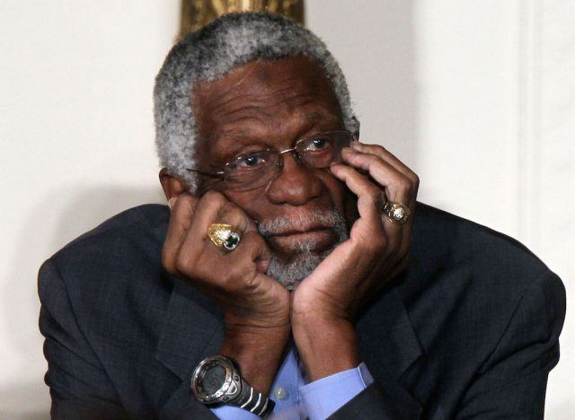 Bill Russell listens during the 2010 Medal of Freedom presentation ceremony.