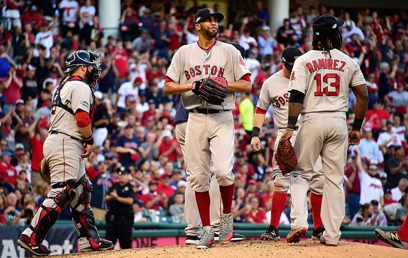 David Price exits after allowing 5 ER in 3.1 IP in Game 2 of the ALDS.