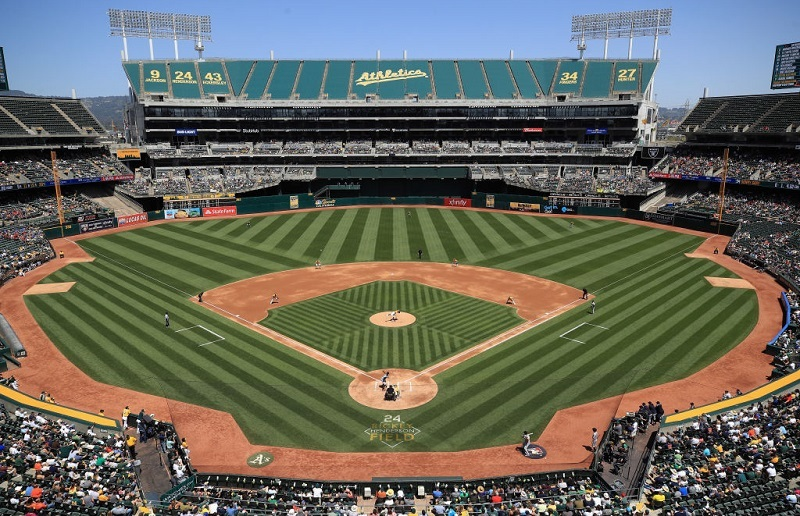 Genral view at Oakland Alameda Coliseum in Oakland, California