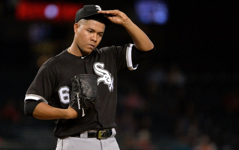 Jose Quintana looks discouraged.