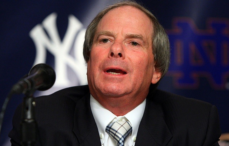 New York Yankees Chief Operating Officer Lonn Trost speaks during a press conference.