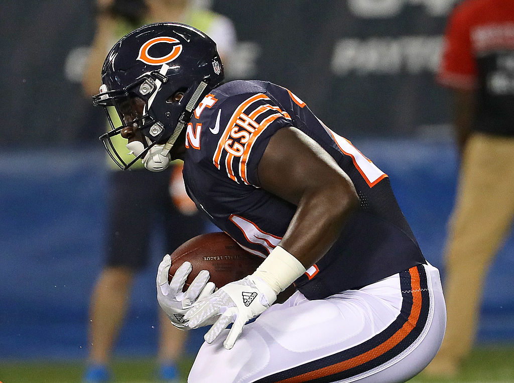 Jordan Howard of the Chicago Bears runs against the Denver Broncos in 2016.