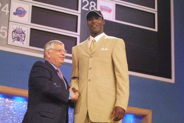 Kwame Brown is selected by the Wizards.