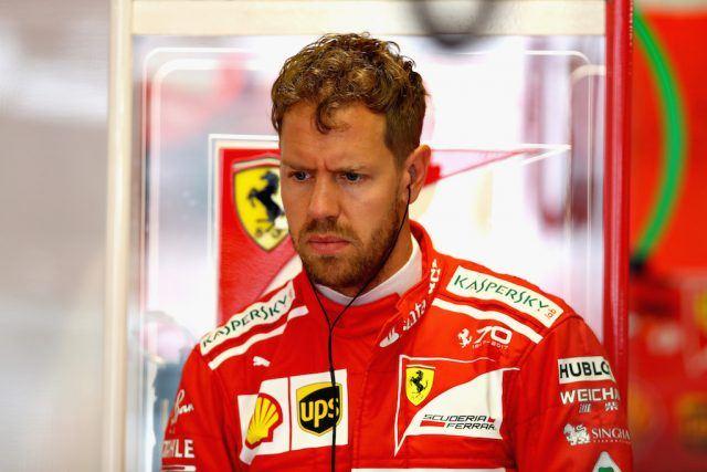 Sebastian Vettel prepares for practice.