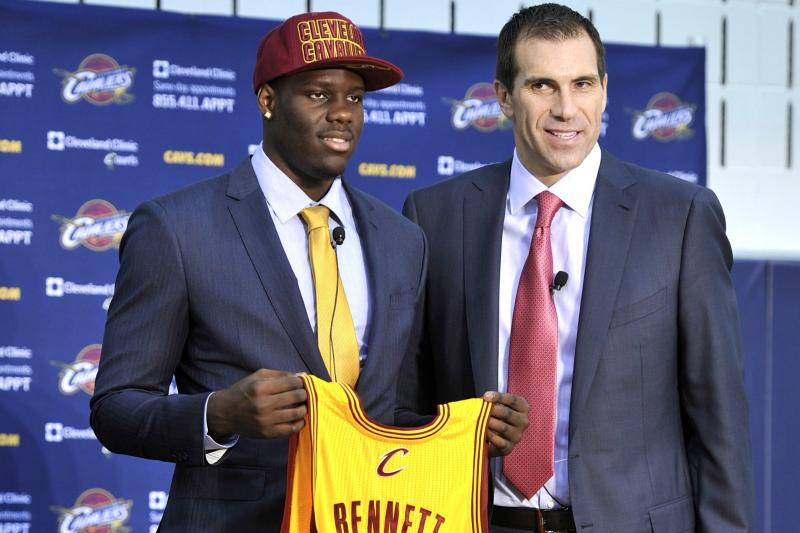 Chris Grant introduces the Cavaliers' draft pick Anthony Bennett.