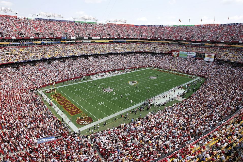 The Washington Redskins prepare for opening kickoff at FedExField.