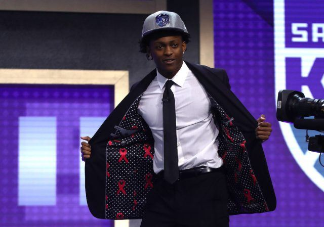 De'Aaron Fox is drafted by the Kings.