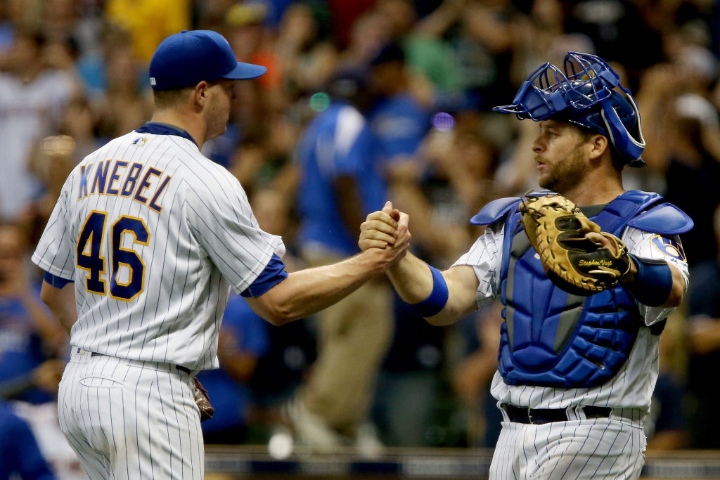 Milwaukee Brewers celebrates a successful inning.