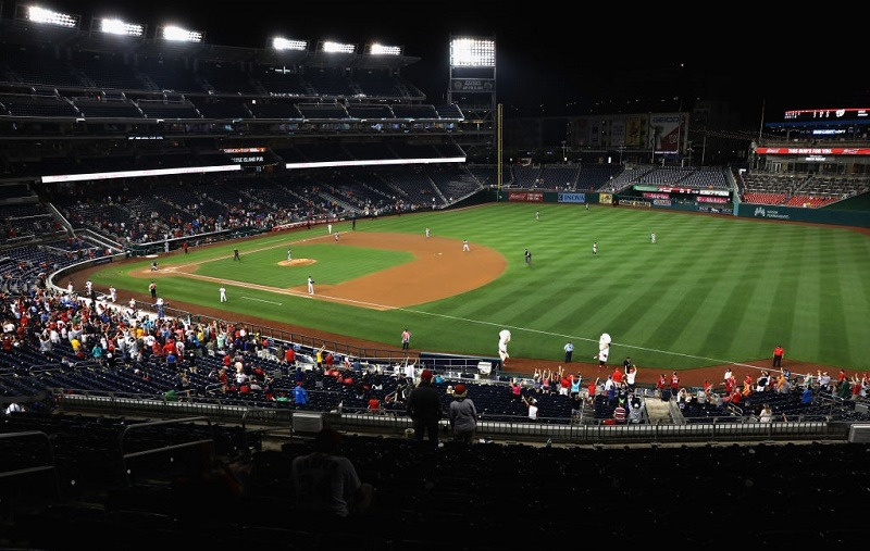 View from second deck at Nationals Park in Washington, DC.