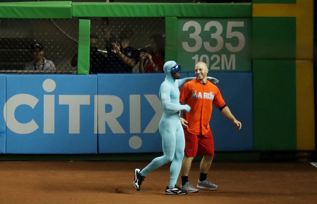 The Freeze congratulates his opponent after losing the race.