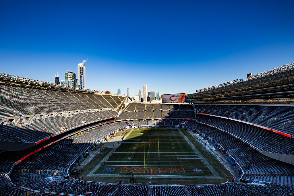 General view of Soldier Field on an off-day