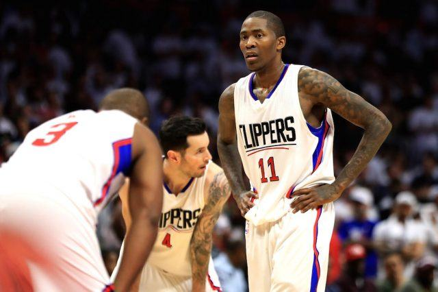 Jamal Crawford #11 looks on during a game.