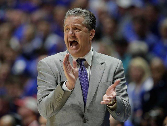 John Calipari coaches the Kentucky Wildcats.