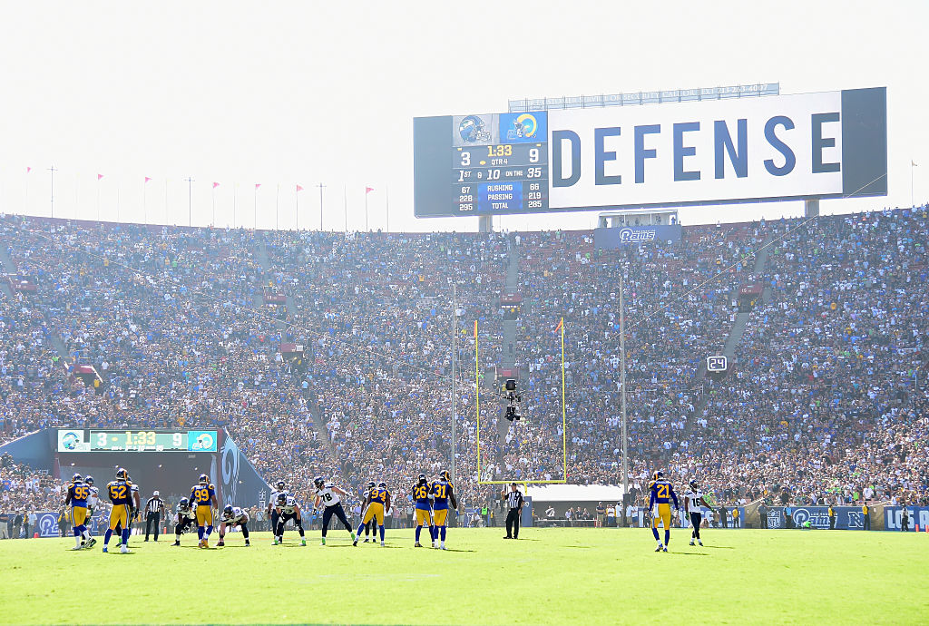 The Los Angeles Rams prepare for their home opening NFL game.