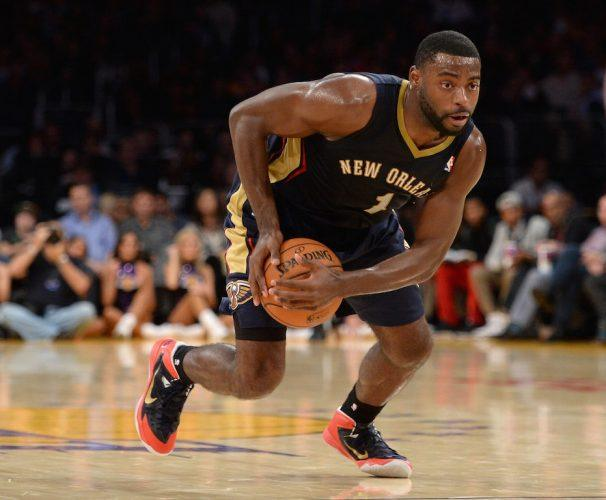 Tyreke Evans grabs a loose ball.