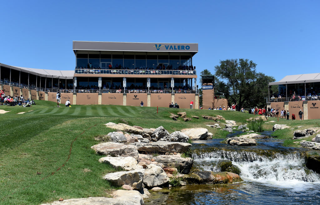 The Valero Texas Open takes place at TPC San Antonio AT&T Oaks Course in San Antonio.