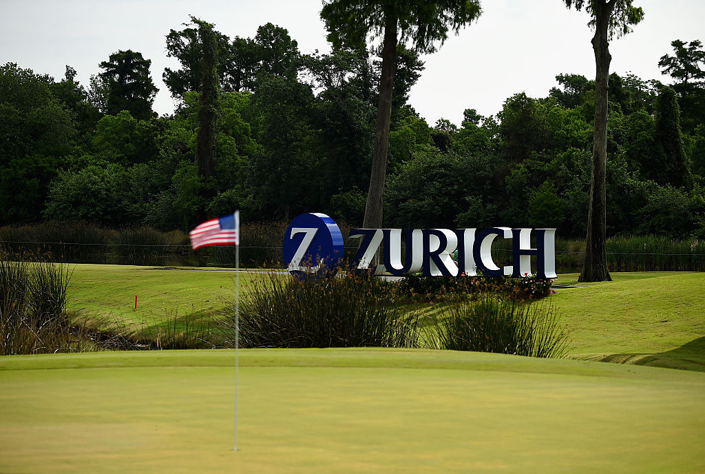 The logo of the Zurich Classic of New Orleans at TPC Louisiana in Avondale, Louisiana