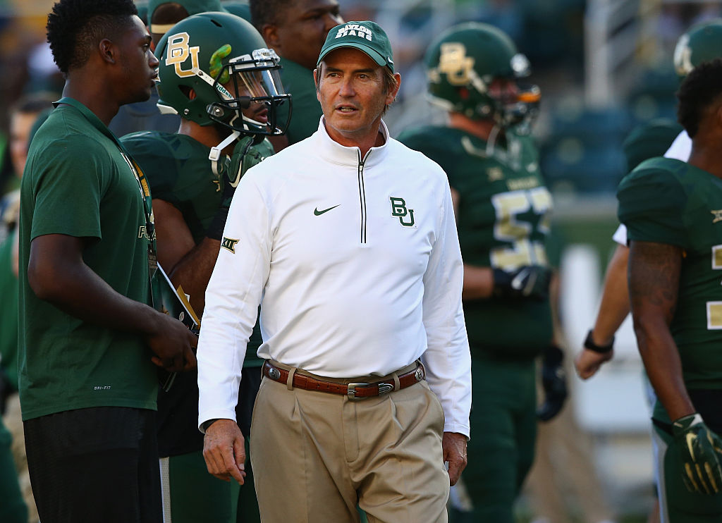 Art Briles at a Baylor-Lamar game