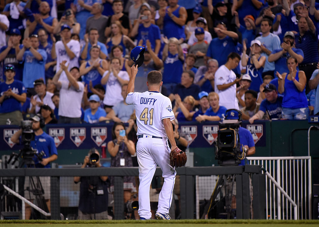 Danny Duffy tips his hat