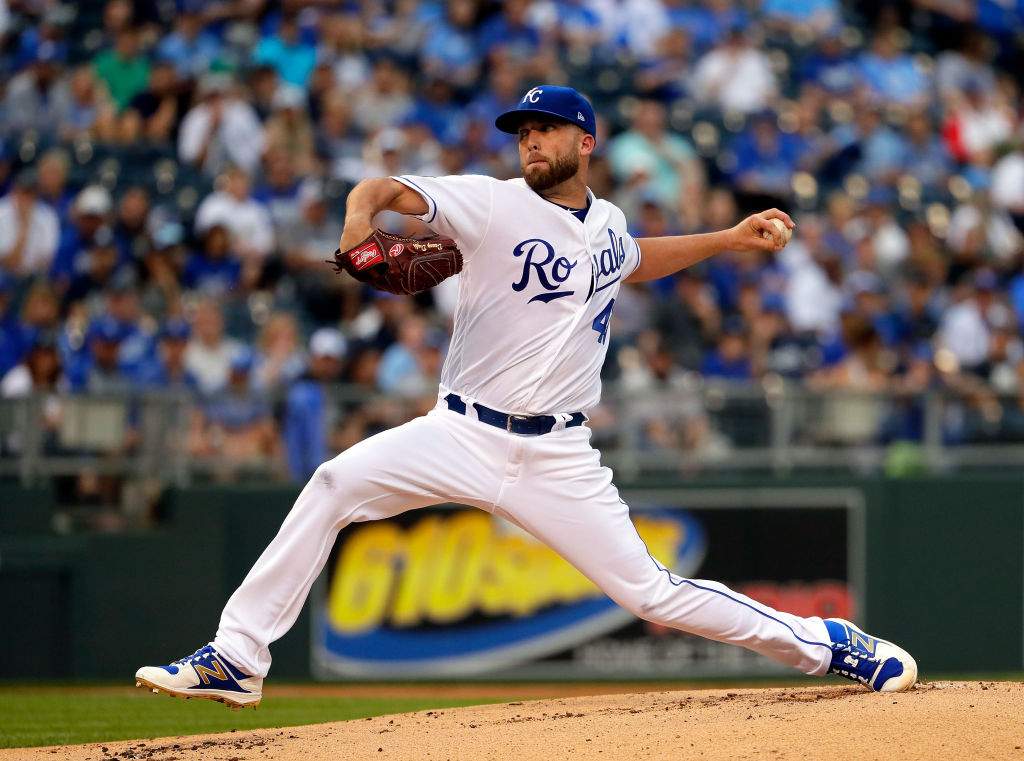 Danny Duffy pitches