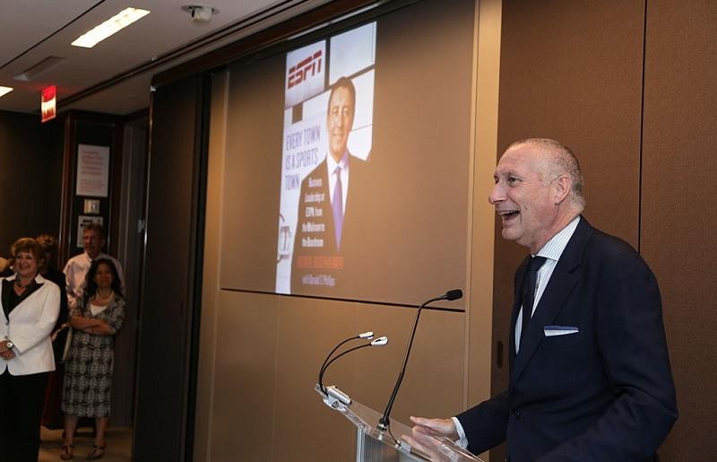 President of ESPN Inc. John Skipper speaks at an event.