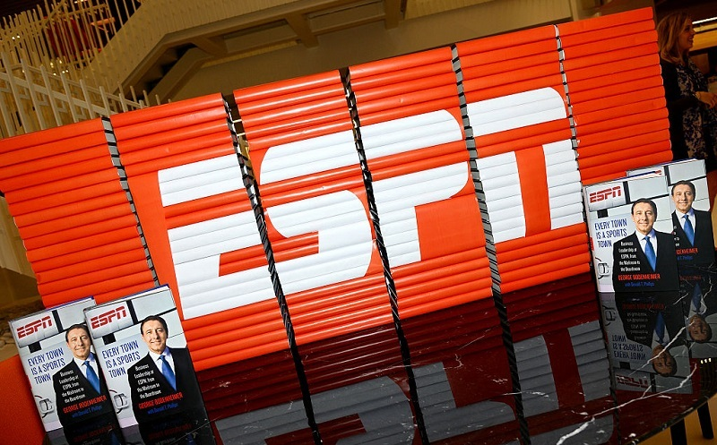 Shot of ESPN logo at Gerson Lehrman Group