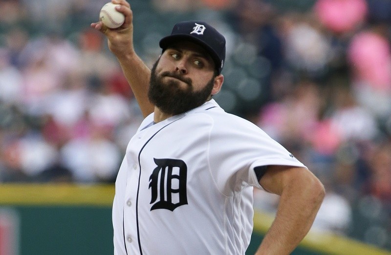 DETROIT, MI - MAY 17: Michael Fulmer #32 of the Detroit Tigers pitches against the Baltimore Orioles during the second inning at Comerica Park on May 17, 2017 in Detroit, Michigan. Fulmer recorded his fifth win in the Tigers 5-4 victory over the Orioles