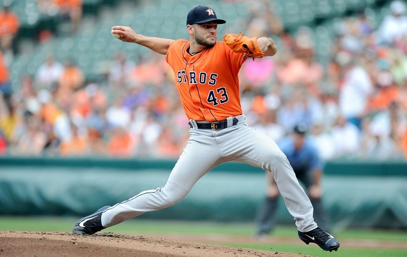 Lance McCullers pitches against the Baltimore Orioles.