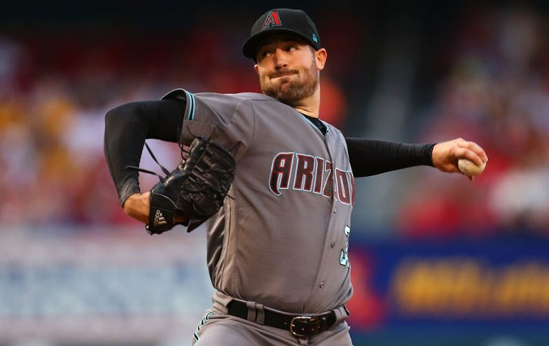 Robbie Ray #38 of the Arizona Diamondbacks delivers a pitch.