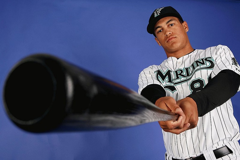 Shot of Giancarlo Stanton in 2009