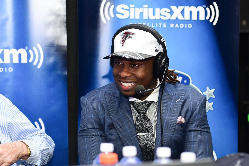 Takkarist McKinley of UCLA visits the SiriusXM NFL Radio talkshow