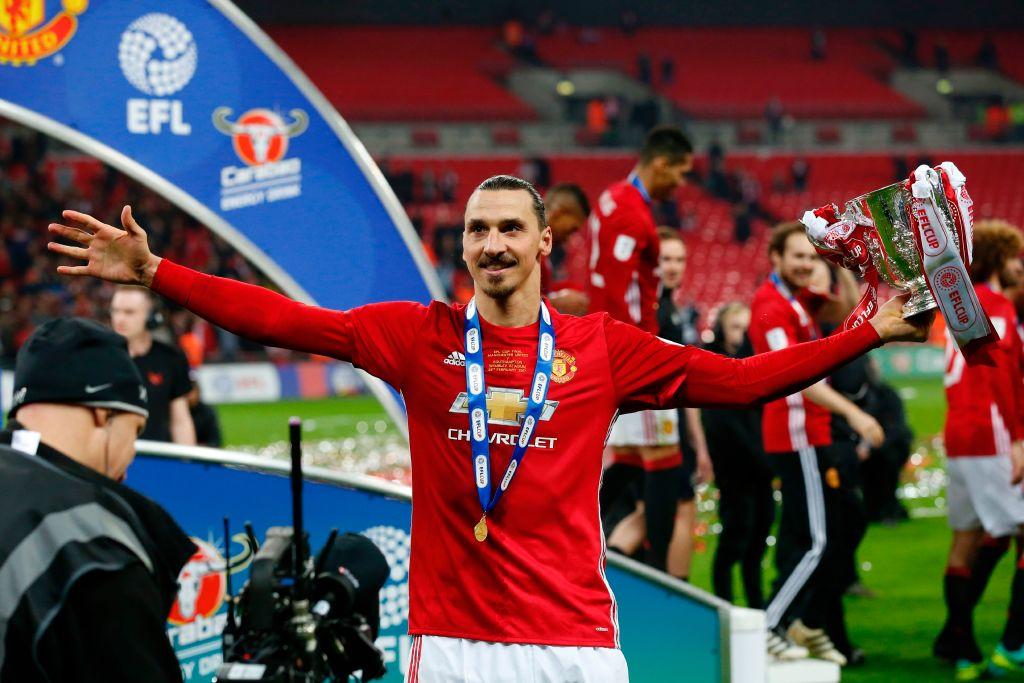 Zlatan Celebrates with Trophy