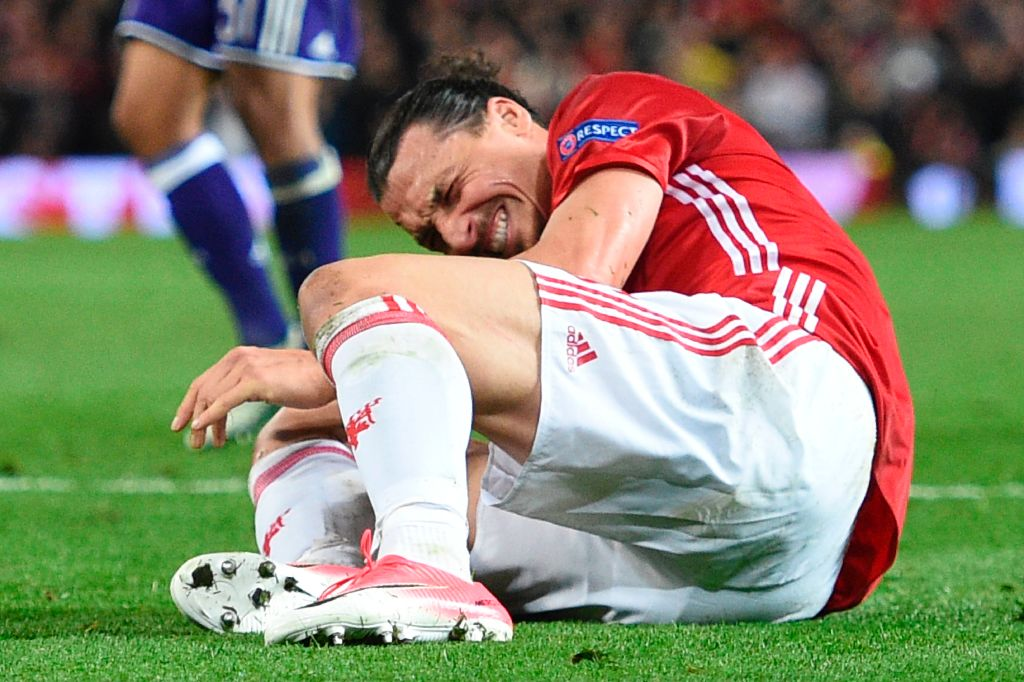 Zlatan Ibrahimovic Injured