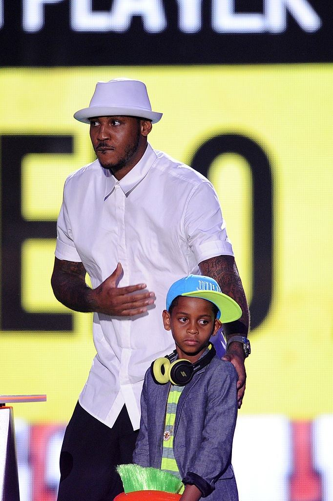 NBA player Carmelo Anthony and son Kiyan