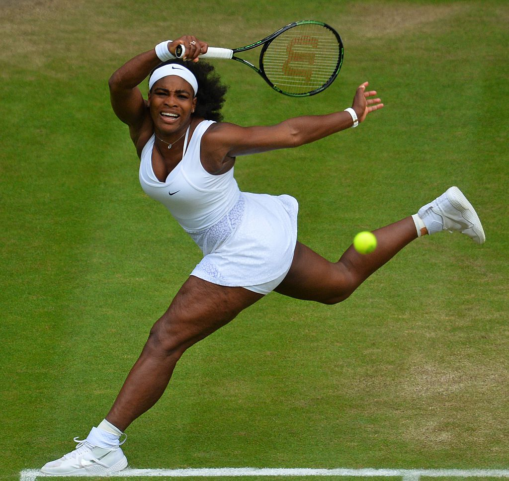 Serena Williams at the 2015 Wimbledon Championships