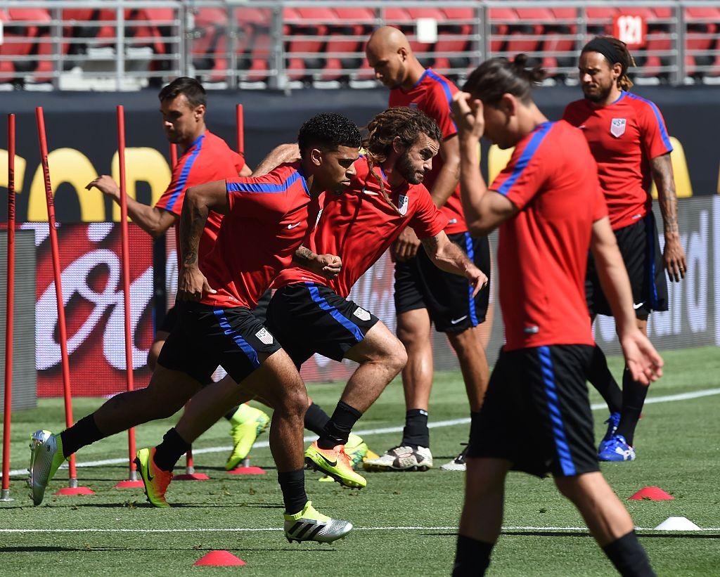 Training for COPA America match
