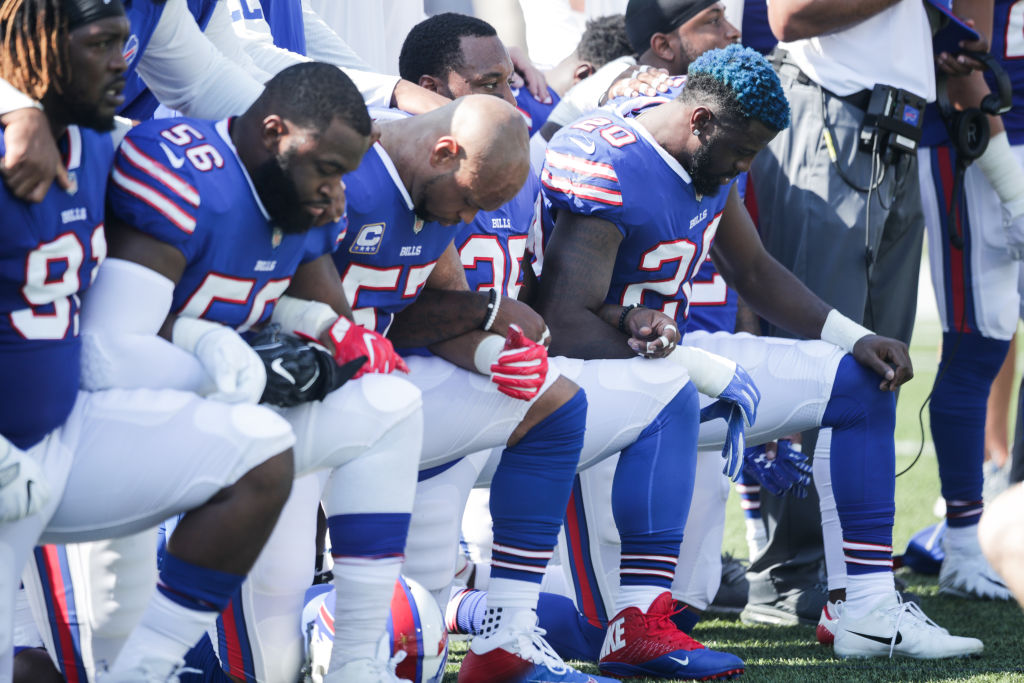 buffalo bills protesting