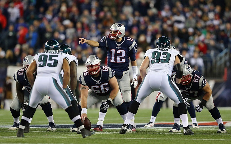 Eagles and Patriots play at Gillette Stadium on December 6, 2015 in Foxboro, Massachusetts