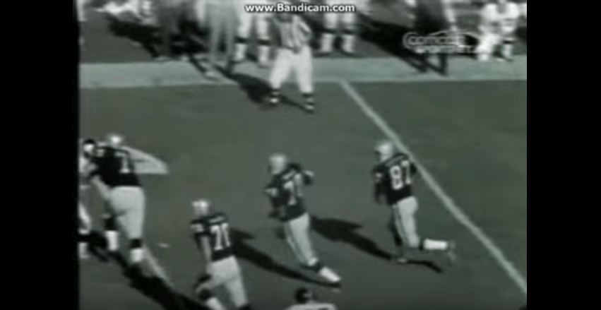 George Blanda going for a touchdown