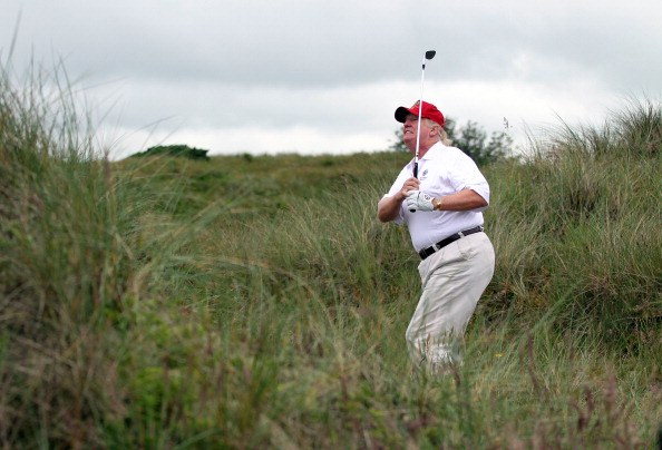 Trump Golf swing