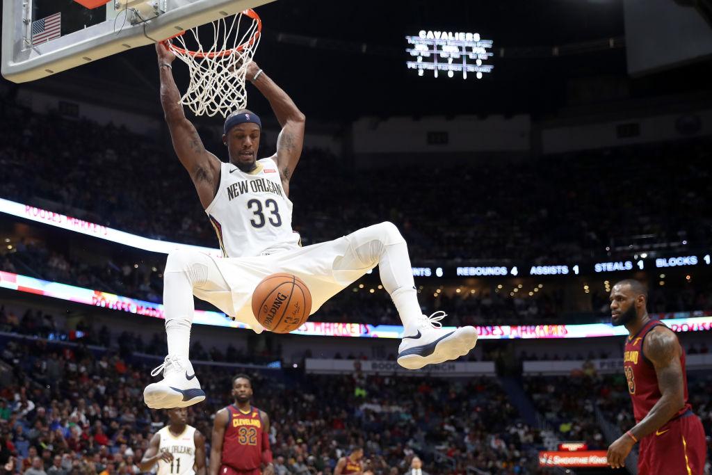 Dante Cunningham throws down a dunk.