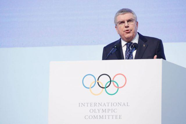 International Olympic Committee (IOC) President Thomas Bach speaks during the opening ceremony of the 132nd IOC session