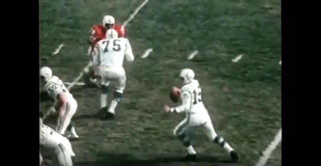 Earl Morrall makes a pass