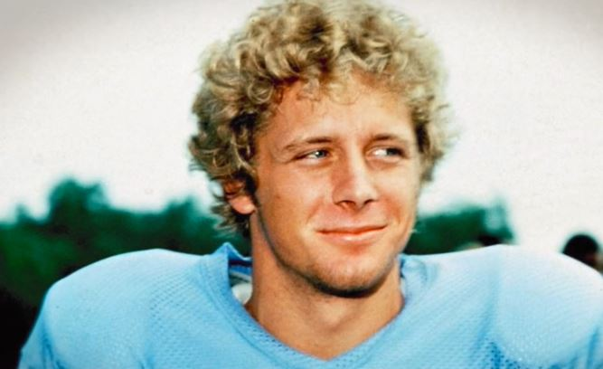 Steve Largent in training camp with the Houston Oilers.