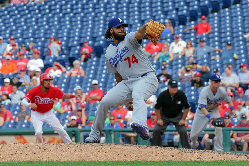 Closer Kenley Jansen #74 of the Los Angeles Dodgers